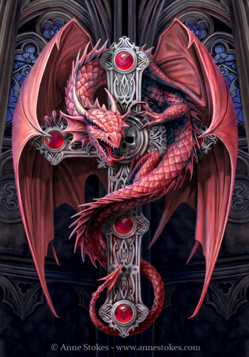 """Gothic Dragon"" by Anne Stokes"