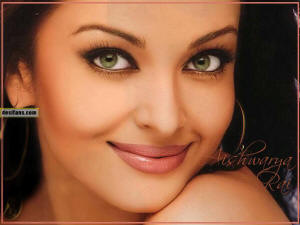 Aishwarya Rai's exotic green eyes.